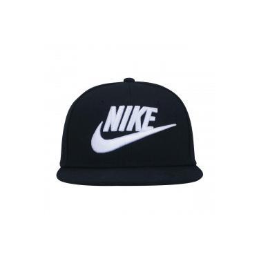 598cf56f09 Boné Aba Reta Nike Futura True - Snapback - Infantil - PRETO/BRANCO Nike