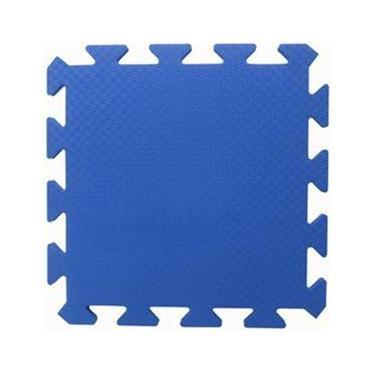 Tapete Tatame Piso EVA Liso Academia Bebe Escola Azul Royal 50x50x1cm 10mm