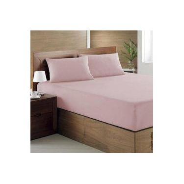 Imagem de Jogo de cama queen 3 peças 200 fios rosa - PT