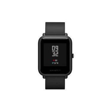 92f745bc6a8 Relogio Amazfit Bip smartwatch Mi para android e Ios - Preto