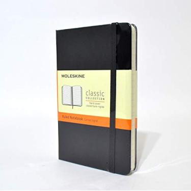 Caderno de Bolso Clássico Moleskine Pautado Preto