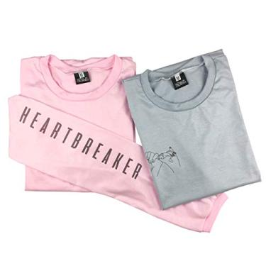 Kit 2 Camiseta Feminina Roupa Estilo Tumblr Moda Básica Swag