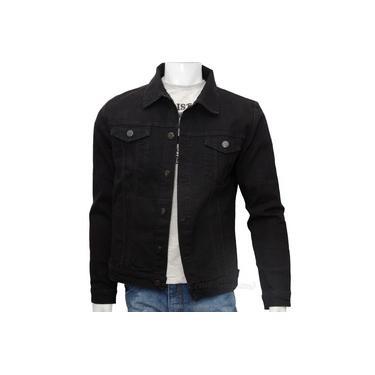 Jaqueta Jeans Masculina Azul 6 Bolsos Premium Fit Alto Padrão
