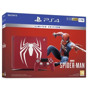Console Playstation 4 Slim 1Tb Edição Limitada Spider Man - Vermelho
