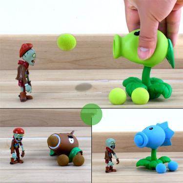 Plants vs zombies peashooter, modelo de figura de ação de pvc, presentes de brinquedo, brinquedos 222152978