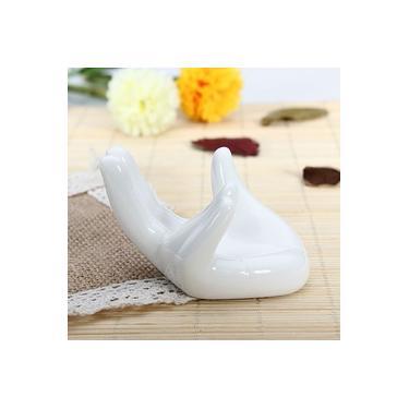 Suporte cerâmico da mão da exposição perfeita branca de Ocarina para a porcelana dos amantes de música