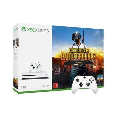Kit Console Microsoft Xbox One S 1TB com Jogo Playerunknown`s Battlegrounds + Controle S/ Fio
