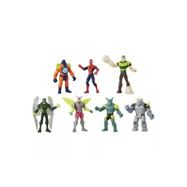 Conjunto com 7 Mini Figuras Marvel Ultimate Spider Man Vs Sinister 6 Hasbro