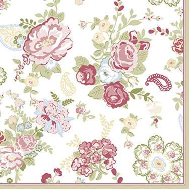 Guardanapo Para Decoupage, Keramik, Floral Magenta, 33x33 cm, Pacote com 20