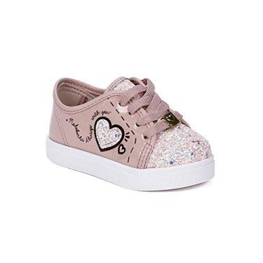 374882f355 Tênis Molekinha Infantil Para Bebê Menina - Rosa branco 23