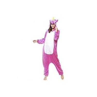 Pijama Kigurumi Unicórnio - Cor: Rosa-pink