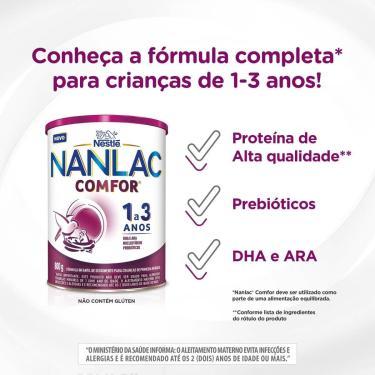 Imagem de Fórmula Infantil NAN Comfor 3/Nanlac Comfor 1+ com 800g