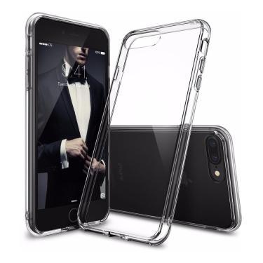 Capa Capinha Anti Impacto Shock Resistente para iPhone 7 Plus 8 Plus, Tela 5.5 Pol, Incolor
