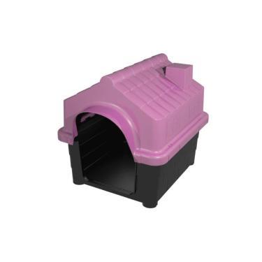 Casa Casinha De Cachorro Plástica Desmontável N2  Rosa