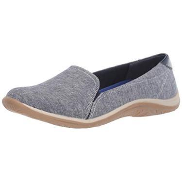 Sapato feminino Keystone Dr. Scholl, Blue Chambray/Patent, 7