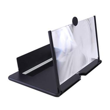 Suporte para telefone- Mini nova lente de aumento de tela para celular Vídeo 3D Amplificador de alto- falante de tela grande Suporte de suporte para vídeo transparente Acessórios de telefone ( cor aleatória )