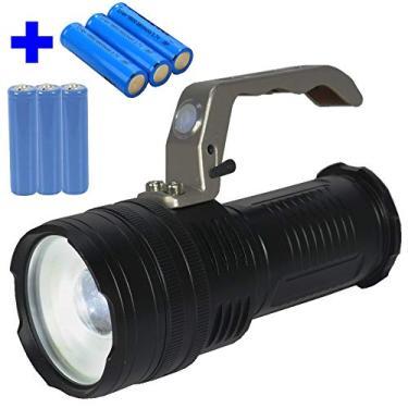 Imagem de Lanterna LED Cree T6 tática Recarregável forte Preto 6 pilhas CBRN05611