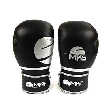 2c701a832 Luva Boxe Mks Combat Champions Fit Cinza 18 Oz