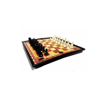 Jogo Xadrez Grande Tabuleiro Dobrável Magnético Imã 31,5 CM