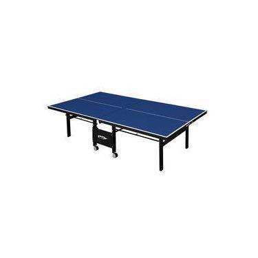 8691c2214 Mesa de Tênis de Mesa Ping Pong Klopf 1084 com Rodízios MDF 18mm Paredão