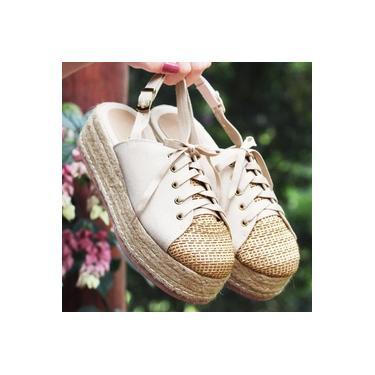 Sapato Chanel Leidilu Palha/Nude/Amendoa Feminino 622-4013