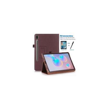 Imagem de Tablet Case para Samsung Galaxy Tab S7 Plus 12.4 Polegada 2020 SM-T970 SM-T975 pu Couro Slim Dobrável Litchi Estilo Funda Capas Capa