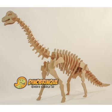 Imagem de Quebra-Cabeça 3D Braquiossauro Gigantesco 51 Peças - Dinobrinque