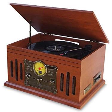 Vitrola Toca Discos de Vinil BLuetooth Stadio e Fita Cassete CD MP3 FM com Conversor Digital Arena Aria Phoenix Ópera Tenor Superbox Uitech