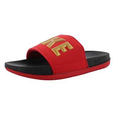 Imagem de Sandália feminina Nike Offcourt Slide, Black/Metallic Gold-university Red, 8