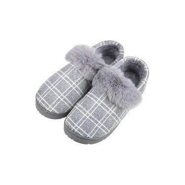 pantufa veludo pelúcia fluff macio quente antiderrapante pantufas impermeáveis adulto masculino homen senhor jovem chinelos sapatos xadrez em casa doméstico