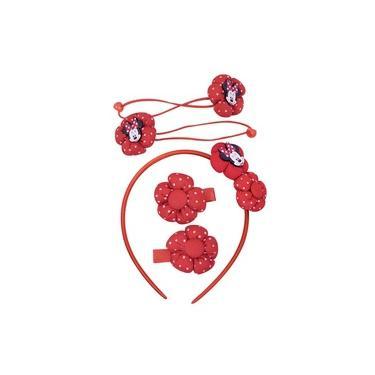 Jg Acessórios Para Cabelo Minnie Vermelho - Disney