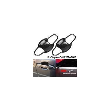 Maçaneta da porta do carro Capa maçaneta de proteção + tigelas para Toyota c-hr 2016-2018