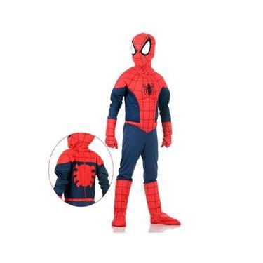 Fantasia Homem Aranha com Peitoral Infantil - Premium - Marvel