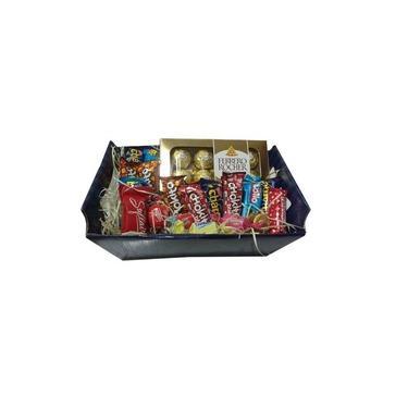 Cesta Para Presente Dia dos Namorados - Chocolates Nestlé e Ferrero Rocher - Cestas Catelândia
