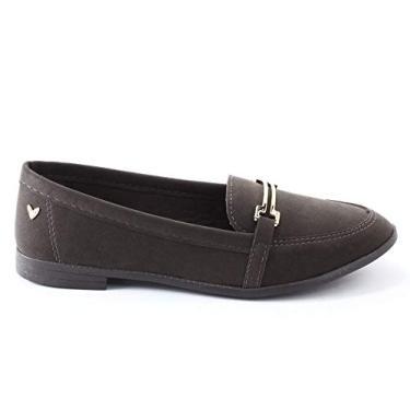 Sapato Mississipi Feminino Oxford Nobuck Metal Q0372