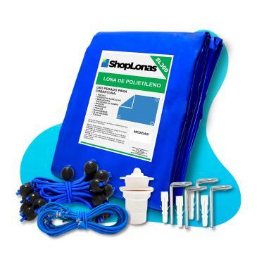 Imagem de Capa para Piscina 10 em 1 Proteção Azul 300 Micras 6x3