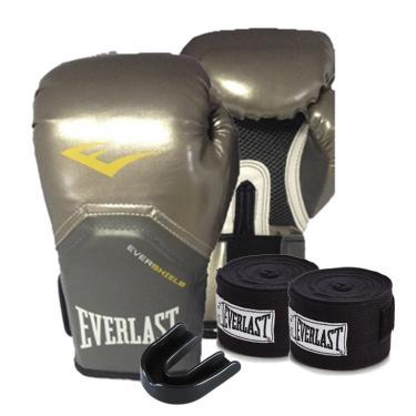 7508052d0 Kit Boxe Elite Pro Style 10oz Prateada Everlast