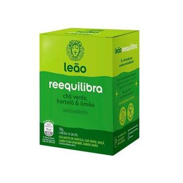 Chá Verde Leão Reequilibra Hortelã e Limão Sachê 18g
