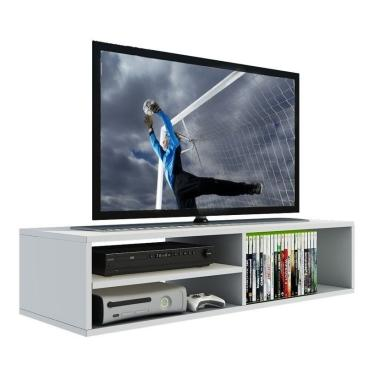 Rack Para Tv, Dvd, Video Game, Nicho Prateleira Mdf Branco