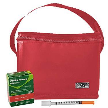 Imagem de Bolsa Termica Pequena Para Medicamentos Insulina Vermelha