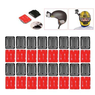 Imagem de Base de montagem de superfície curvada para gopro, adesivo para gopro hero 6 5 4 3 + e xiaomi yi
