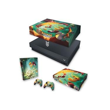 Capa Anti Poeira e Skin para Xbox One X - Rayman Legends