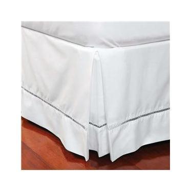 Imagem de Saia para Cama Box King Size Plumasul  em Percal Ponto Palito 180 Fios - Branca