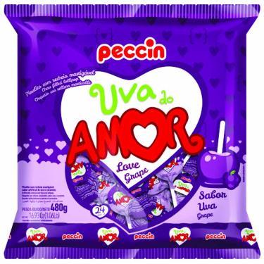 Pirulito Uva do Amor 480g Peccin 997294