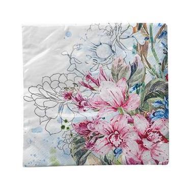 Guardanapo Para Decoupage Toke e Crie com 02 Unidades - Orquídeas Coloridas