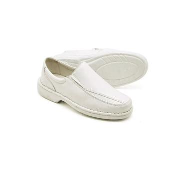 Sapato masculino branco ortopédico para profissionais da area da saúde 2001