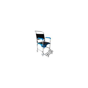 Imagem de Cadeira De Banho Higiênica Adulto Dobrável Até 150kg 3x1 Multiuso D50 - Dellamed