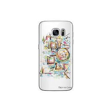 Capa Transparente Personalizada Exclusiva Samsung Galaxy S7 Bateria - Tp05