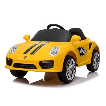 Imagem de Carro Elétrico InfantilEsporte Luxo Amarelo, Bang Toys