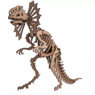 Imagem de Quebra-Cabeça Mdf 3D Dinossauro Dilofossauro Pasiani